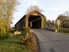 Hunsecker Mill Covered Bridge, Lancaster County Photo by Galen R Frysinger