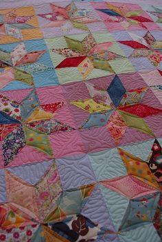 scrappy star quilt....