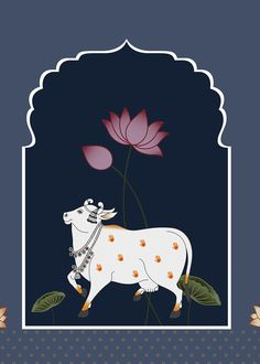Iphone 6 Wallpaper Tumblr, Cow Wallpaper, Kalamkari Painting, Madhubani Painting, Indian Artwork, Indian Folk Art, Pichwai Paintings, Indian Art Paintings, Cow Illustration