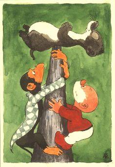 Online veilinghuis Catawiki: Dulieu, Jean - Originele aquarel voor Paulus de Boskabouter- (jaren '60)