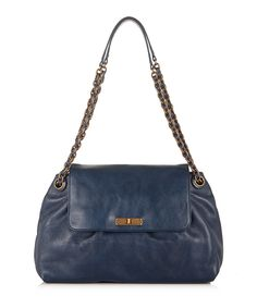 Rita blue leather shoulder bag by Marc Jacobs