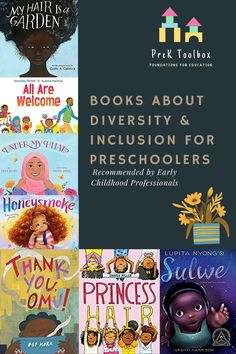 A comprehensive list of books gathered from fellow ECE professionals that help foster diversity and inclusion in the preschool classroom. Kindergarten Reading Activities, Preschool Literacy, Preschool Books, Literacy Skills, Early Literacy, Reading Resources, Book Activities, Preschool Activities, Montessori Books