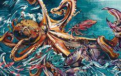 Jacqui Oakley | Octopus vs. Crab | Zoo Exhibit