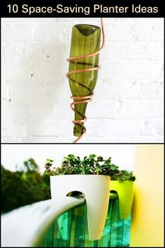 Low on space? No problem for these planter placing techniques. Vertical Planter, Herb Planters, Hanging Planters, Mason Jar Herbs, Mason Jars, Relaxing Places, Saving Ideas, Simple Way, Space Saving