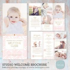 Photography Brochure, Photography Pricing, Photography Business, Brochure Design, Flyer Design, Brochure Ideas, Adobe Photoshop, Free Font Websites, Baby Scrapbook Pages