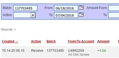 """""""Here is my Withdrawal Proof from AdClickXpress. I get paid daily and I can withdraw daily. Online income is possible with ACX, who is definitely paying - no scam here."""""""