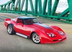 VET 01 01 - 1982 Don Harr Chevrolet Corvette Red Front View On Green Bridge - Kimballstock Chevrolet Corvette, Chevy, Corvette C3, Us Cars, Sport Cars, Corvette Summer, Little Red Corvette, Classic Corvette, Transporter