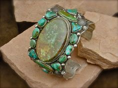 Turquoise Sterling Silver Navajo Bracelet from Spirit of Santa Fe
