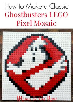 How to make a classic Ghostbusters LEGO pixel mosaic art. Step by step instructions included. LEGO brick art is a great craft for adults and kids alike. Lego Mosaic, Mosaic Art, Mosaics, Manual Lego, Deco Lego, Brick Art, Lego Activities, Lego Craft, Manualidades