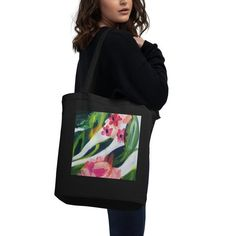 Abstract Painterly Floral Eco Tote Bag | Etsy