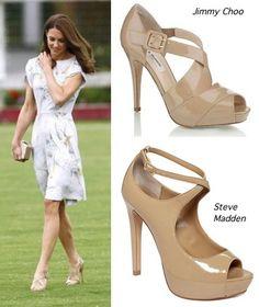 Kate Middleton inspired.  Steve Madden Hottness Platform Pumps in Blush Patent $89 (Orig: LK Bennett)