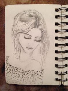 Drawing of girl Female, Drawings, Art, Sketch, Kunst, Portrait, Drawing, Resim, Paintings