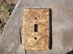 Clock Steam Punk Steampunk Light Switch Plate Switchplate by krisi, $16.00