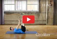Take your abs exercises to the next level by adding a set of dumbbells. #ab #workout #video via grokker.com