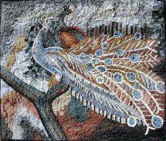 Mosaic Tile Murals | Details about Peafowl Marble Mosaic Tiles Stone Art Wall Mural Decor