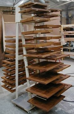 Cabinet Door Drying Rack Extraordinary Diy Cabinet Door Drying Rack From Pvc Pipe & 2X4 Lumber Wood Design Ideas