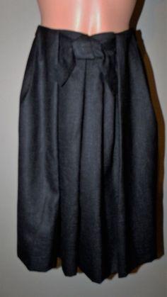 Talbots Size 2 Lined Black Knee Length A-Line Skirt LN #Talbots #ALine