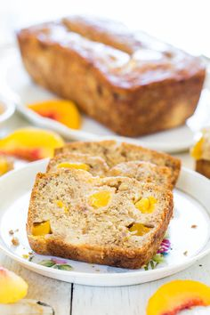 Peach Mango Coconut Oil Banana Bread from @Averie Sunshine {Averie Cooks}
