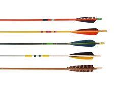 Colorful Vintage Wood Arrows. Retro Arrows. Decorative Arrows.