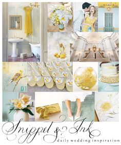 Yellow + Blue Wedding