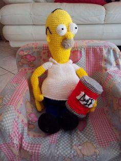 L'uncinetto di Simo e Isa: Homer Simpson con la sua birra