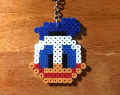 Donald Duck - Keychain - Perler Beads