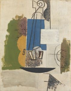 Pablo Picasso 1881 - 1973 VIOLON Oil, sand and charcoal on canvas 21 5/8 by 17 in. 55 by 43.2 cm Painted in autumn-winter 1912.