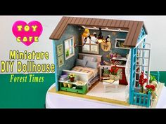 """DIY Miniature Dollhouse Kit With Working Lights """"Forest Times"""" - YouTube"""
