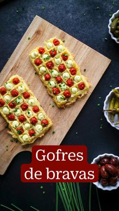 Spanish Food, Appetisers, Finger Foods, Gluten, Waffles, Salsa, Vegan Recipes, Food And Drink, Potatoes
