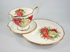 Pretty Lady Sylvia Queen Anne Tea Cup and Saucer Tennis Snack Set | eBay