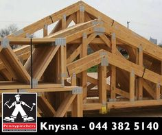 "Pennypinchers Knysna specializes in the design, manufacture and supply of pre-fabricated timber roof #trusses and also supply light steel trusses in ""knock down"" or pre-assembled form. Visit Pennypinchers Knysna for our wide range. #pennypinchersknysna #diy"
