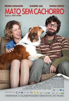 Cartaz da comédica romântica Mato Sem Cachorro exibindo Bruno Gagliasso e Leandra Leal
