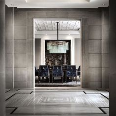 travertine floor pattern | entrance hall | Ferris Rafauli
