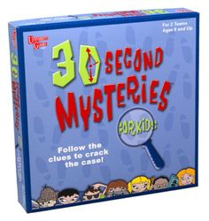 30 Second Mysteries Game for Kids -- More info could be found at the image url. Note:It is Affiliate Link to Amazon.