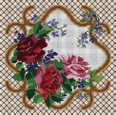 This Pin was discovered by Zuh 123 Cross Stitch, Cross Stitch Pillow, Cross Stitch Flowers, Cross Stitch Designs, Cross Stitch Patterns, Cross Stitching, Cross Stitch Embroidery, Embroidery Patterns, Crochet Bedspread Pattern