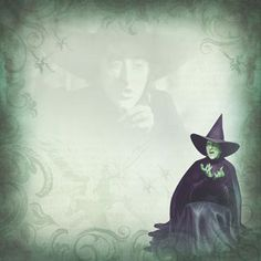 Paper House Productions - Wizard of Oz Collection - 12 x 12 Paper - Wicked Witch at Scrapbook.com $0.69
