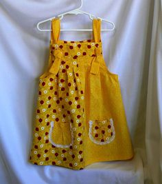 Girls Summer SunDress or Jumper Size 1 2 3 and 4 by MontanaTwirls, $29.00