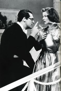 Bringing Up Baby is a 1938 American screwball comedy film directed by Howard Hawks, starring Katharine Hepburn and Cary Grant, and released by RKO Radio Pictures. The film tells the story of a paleontologist in a number of predicaments involving a scatterbrained woman and a leopard named Baby.