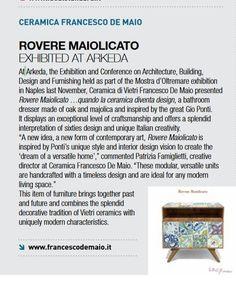 Ceramica Francesco De Maio su Cer Magazine | #ceramicafrancescodemaio