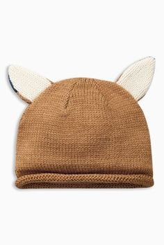 Ginger Knitted Fox Hat (0mths-2yrs) £6