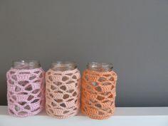 Pigocro: Anleitung Gehäkelte Deko - Sommerliche Vasen
