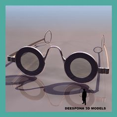 Eyeglass Frame Visualizer : Vintage Anglo American Eyewear Bicycle 80s Extravagant ...