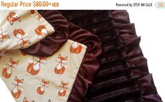 The Woodland Fox Throw Blanket - Sizes Available in Infant 30x36 - Adult Large 60x86 - For more designer throw blankets JOIN Our Email List for  an FREE INSTANT 20% OFF CODE: eepurl.com/bgXlhj #blankets, #baby, #handmade, #etsymntt, #etsyretwt, #shopetsy, #bestofetsy, #artisanbot