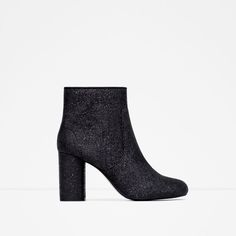 HIGH HEEL GLITTER BOOTIES-Ankle boots-Shoes-WOMAN | ZARA United States