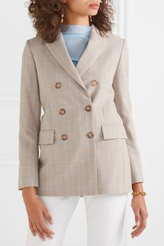 Find and compare Cruise double-breasted checked woven blazer across the world's largest fashion stores! Workwear Fashion, Work Fashion, Fashion Outfits, Lou Doillon, Emmanuelle Alt, Corporate Fashion, Checked Blazer, Blazer Outfits, Jackett