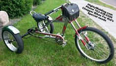HigleyWelding.com Ph 763-438-0356 Custom built 3 wheel chopper bicycles for kids and adults with special needs.