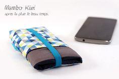 Etui portable sur mesure, tissu triangles scandinave pour iPhone 6, samsung, LG, Sony et plus, fermeture : Etuis portables par mambo-kiwi