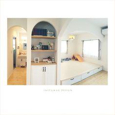 アーチ/ナチュラル/フレンチカントリー/小上がり畳スペース/部屋全体のインテリア実例 - 2016-07-24 00:34:57 | RoomClip(ルームクリップ) Tatami Room, Entryway, Bedroom, Modern, House, Furniture, Frans, Home Decor, Entrance