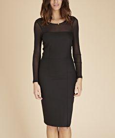 Look at this #zulilyfind! Caviar Black Audley Crepe Dress #zulilyfinds