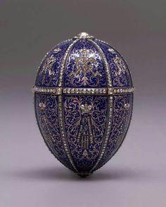 Twelve Monogram Imperial Fabergé egg at Hillwood Estate, Museum & Gardens